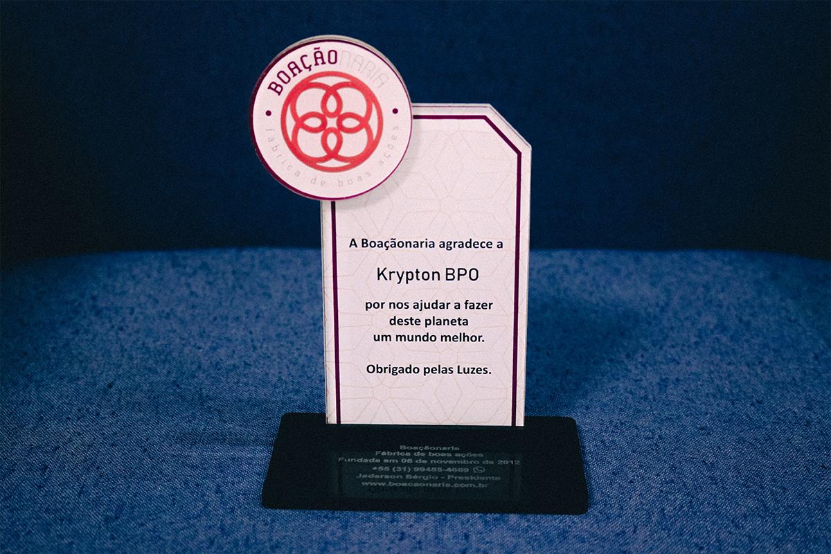 Trofeu Krypton BPO comprometimento social